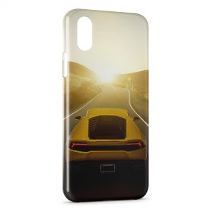 Coque iPhone X & XS Lamborghini rear Voiture