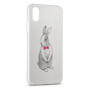 Coque iPhone X & XS Lapin Style Design