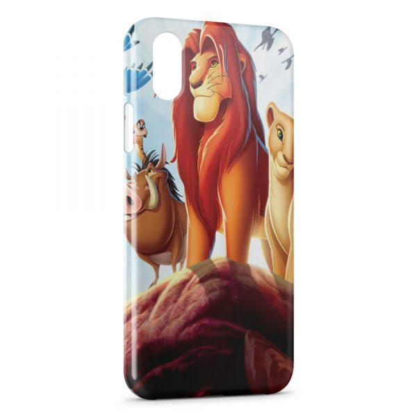 coque iphone x le roi lion