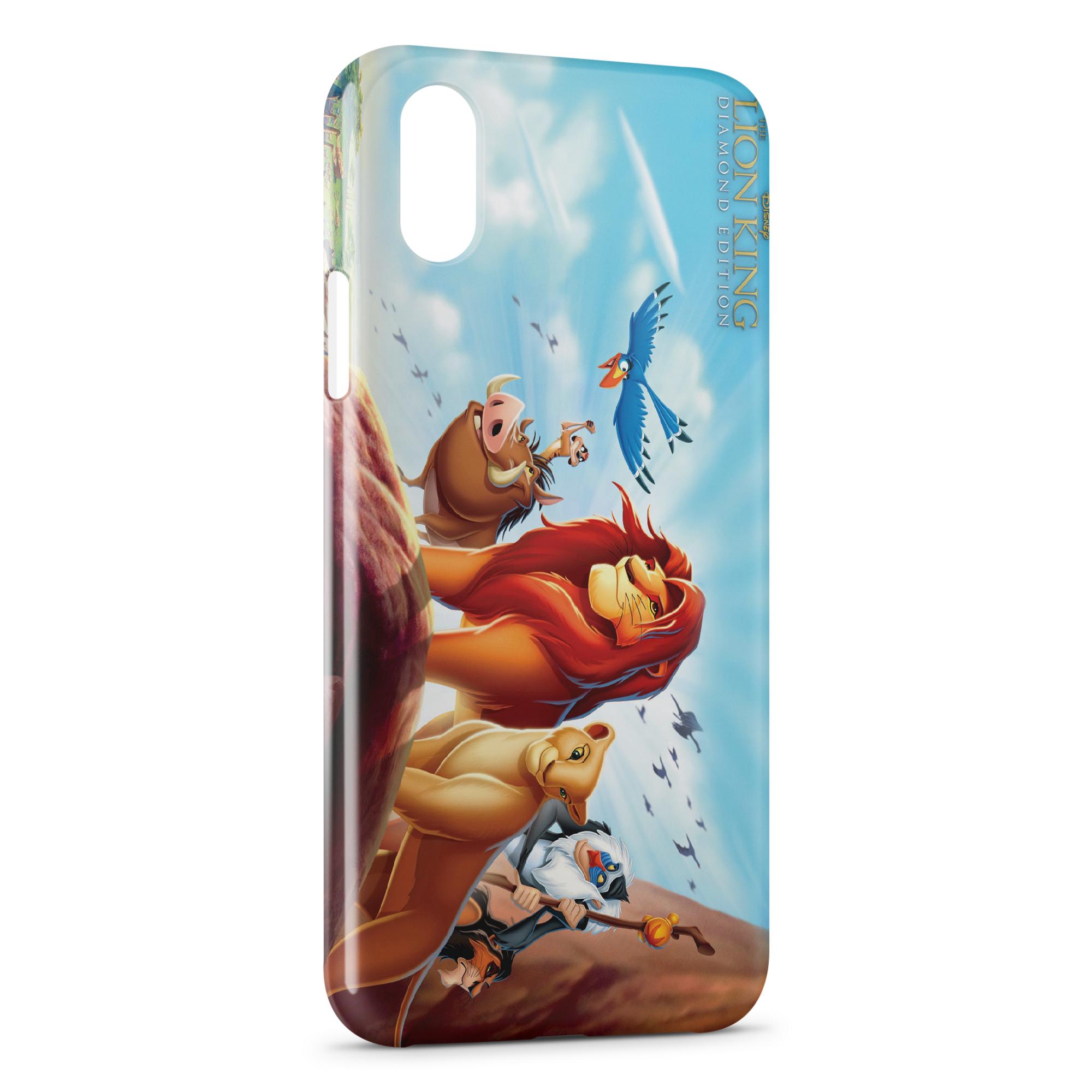 coque iphone xr transparente le roi lion