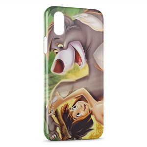 Coque iPhone X & XS Le livre de la jungle Baloo Mowgli