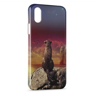 Coque iPhone X & XS Leopard & Sea