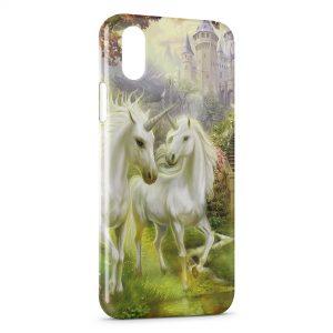 Coque iPhone X & XS Licorne Paradise