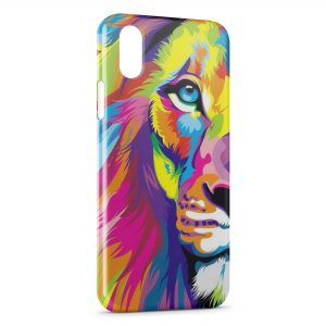 Coque iPhone X & XS Lion Colorfull