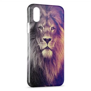 Coque iPhone X & XS Lion Colors Fun