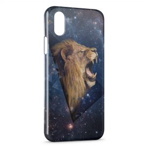 Coque iPhone X & XS Lion Design Style Galaxy