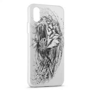 Coque iPhone X & XS Lion Dessin 2