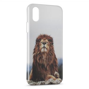 Coque iPhone X & XS Lion Vintage 4