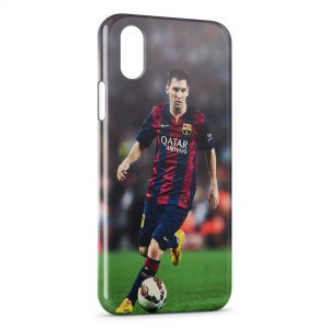 Coque iPhone X & XS Lionel Messi Football 4