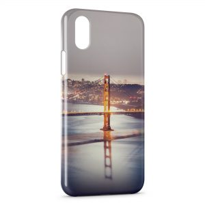 Coque iPhone X & XS Long Bridge at Night