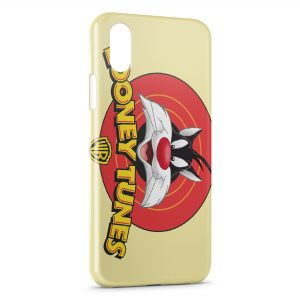 Coque iPhone X & XS Looney Tunes Gros Minet