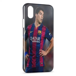Coque iPhone X & XS Luis Suarez Barcelone Football