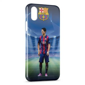 Coque iPhone X & XS Luis Suarez FC Barcelone 2