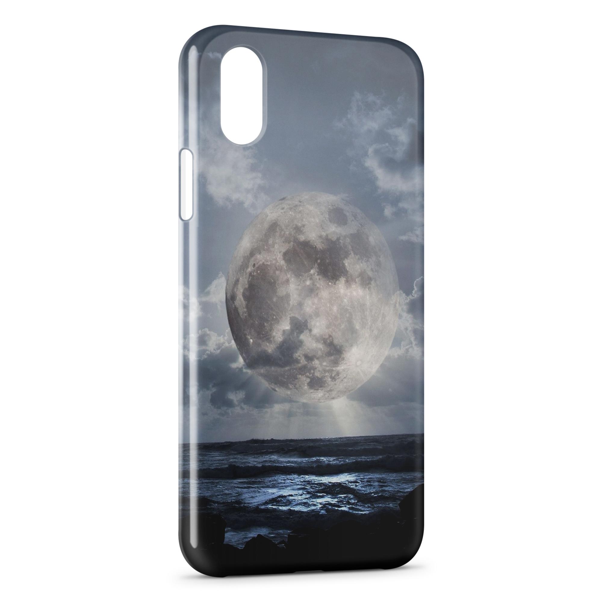 coque iphone x lune