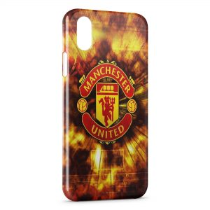 Coque iPhone X & XS Manchester United Football 2