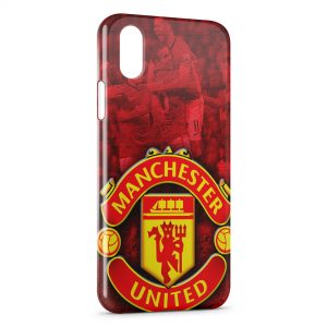 Coque iPhone X & XS Manchester United Football UK 4