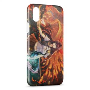 Coque iPhone X & XS Manga Cute Girl Sword