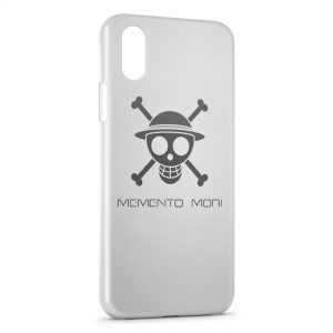 Coque iPhone X & XS Manga One Piece Tete de mort White