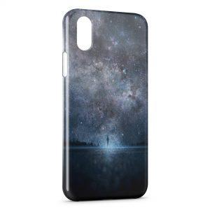 Coque iPhone X & XS Marche entre Ciel & Mer