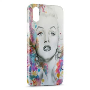 Coque iPhone X & XS Marilyn color iPhone 5