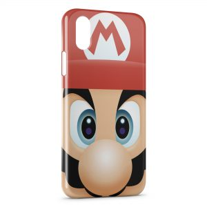 Coque iPhone X & XS Mario Tete
