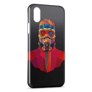 Coque iPhone X & XS Masque A Gaz Multicolor Design