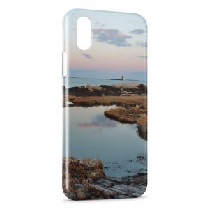 Coque iPhone X & XS Mer Paysage