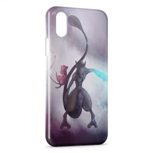 Coque iPhone X & XS Mewtwo Pokemon Rare 2