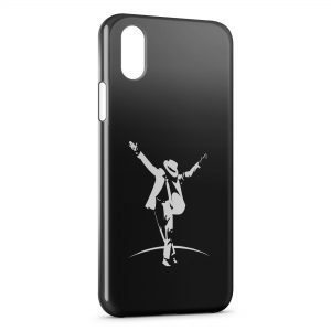 Coque iPhone X & XS Mickael Jackson Black White
