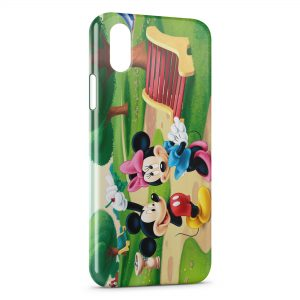 Coque iPhone X & XS Mickey & Minnie Flirt