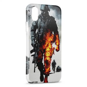 Coque iPhone X & XS Military Burning Soldier