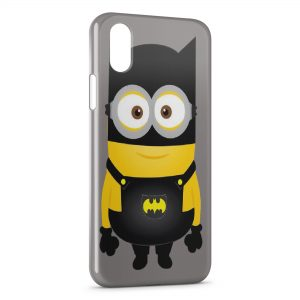 Coque iPhone X & XS Minion Batman Style