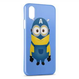 Coque iPhone X & XS Minion Captain America