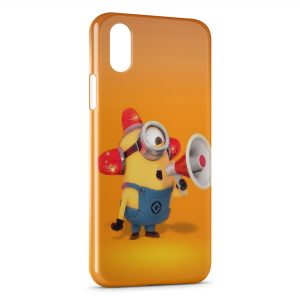 Coque iPhone X & XS Minion Megaphone