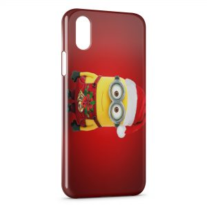 Coque iPhone X & XS Minion Noel