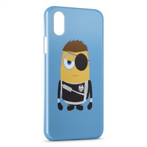 Coque iPhone X & XS Minion Style 3