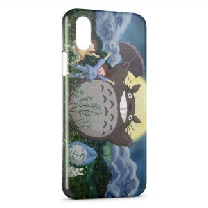 Coque iPhone X & XS Mon voisin Totoro Manga Anime2