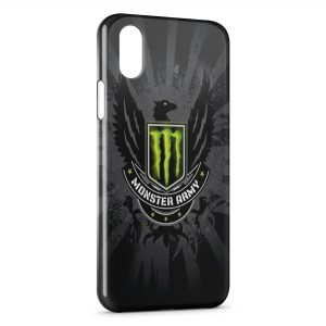 Coque iPhone X & XS Monster Energy Black Army