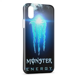 Coque iPhone X & XS Monster Energy Blue Iced