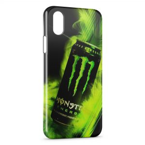 Coque iPhone X & XS Monster Energy Canette Green