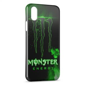 Coque iPhone X & XS Monster Energy Green Style Design