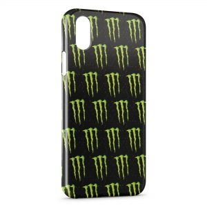 Coque iPhone X & XS Monster Energy Mosaique