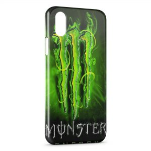 Coque iPhone X & XS Monster Energy New Green