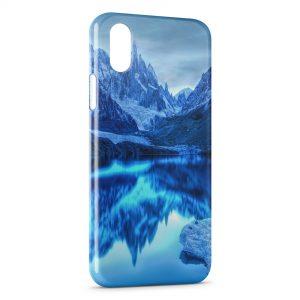Coque iPhone X & XS Montagne & Mer