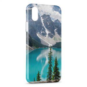 Coque iPhone X & XS Montagne & Mer 2