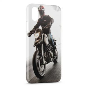 Coque iPhone X & XS Motard Speed