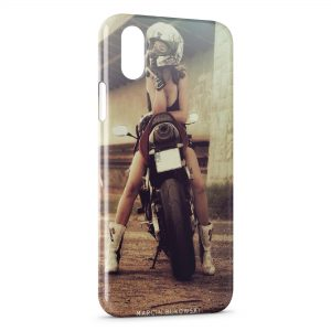 Coque iPhone X & XS Moto Sexy Girl