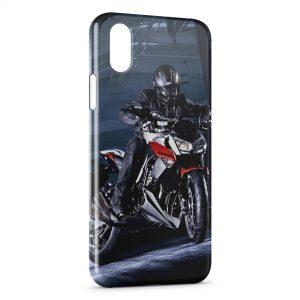 Coque iPhone X & XS Moto Sport Rider Kawasaki 3
