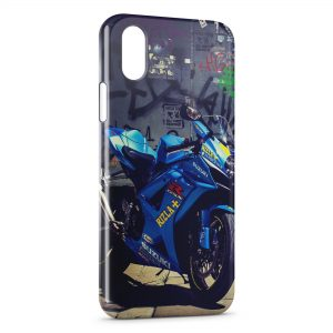 Coque iPhone X & XS Moto Suzuki 2