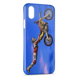 Coque iPhone X & XS Motocross Figure